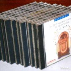 CDs de Música: LOTE CON 10 CD-ROM: COLECCIÓN LAS CIEN MEJORES CANCIONES DE NUESTRA VIDA DE PANORAMA 1963-1973. Lote 93850100