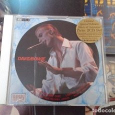 CDs de Música: DAVID BOWIE INTERVIEW PICTURE DISC (LIMITED EDITION) + CD MAXISINGLE BLACK TIE WHITE NOISE CBAK-4040. Lote 93946950