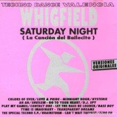 CDs de Música: TECHNO DANCE VALENCIA - WHIGFIELD, SATURDAY NIGHT - CD ALBUM - 11 TRACKS - 1994. Lote 94042245