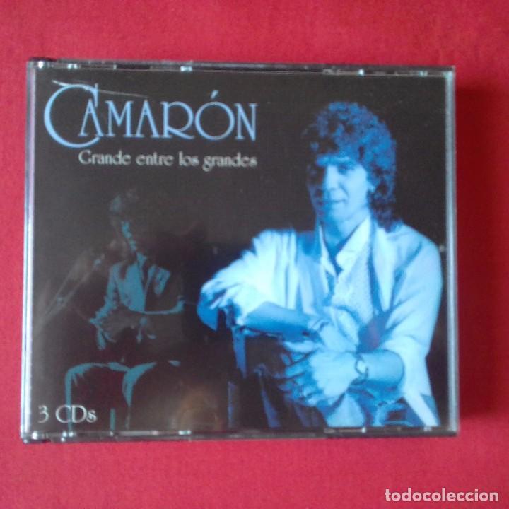 CD CAMARON GRANDE ENTRE LOS GRANDES. 3 CDS, UNIVERSAL MUSIC 2005 (Música - CD's Flamenco, Canción española y Cuplé)