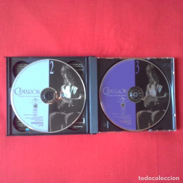 CDs de Música: CD CAMARON GRANDE ENTRE LOS GRANDES. 3 CDS, UNIVERSAL MUSIC 2005 - Foto 4 - 94255450