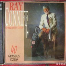 CDs de Música: RAY CONNIFF ORQUESTA Y COROS.40 GRANDES EXITOS...DOBLE CD. Lote 94322254