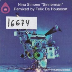 CDs de Musique: NINA SIMONE / SINNERMAN (3 VERSIONES) CD SINGLE CARTON PROMO 2003. Lote 109263870