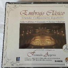 CDs de Música: 45-CD EMBRUJO CLASICO, GRANDES COMPOSITORES ESPAÑOLES, 2 CDS. Lote 94414106