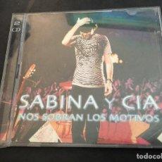 CDs de Música: SABINA Y CIA (NOS SOBRAN LOS MOTIVOS) 2 CD 22 TRACK ESPAÑA 2000 (CDI9). Lote 94590279