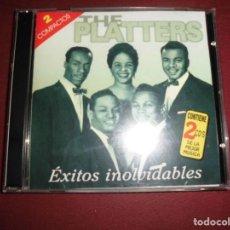 CDs de Música: CD THE PLATTERS EXITOS INOLVIDABLES,DOS CDS. Lote 94595135