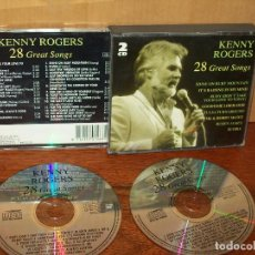 CDs de Música: KENNY ROGERS - 28 GREAT SONGS - CD DOBLE 28 CANCIONES . Lote 94730295