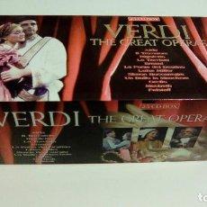 CDs de Música: VERDI - THE GREAT OPERAS VERDI (25CD BOX, BRILLANT CLASSICS 99655). Lote 94749247