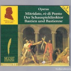 CDs de Musique: MOZART - OPERAS: MITRIDATE, RÈ DI PONTO... (5CD BOX, BRILLANT CLASSICS 99723, VOLUME 11). Lote 94921763