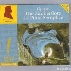 CDs de Música: MOZART - OPERAS: DIE ZAUBERFLÖTE. LA FINTA SEMPLICE (5CD BOX, BRILLANT CLASSICS 99726, VOLUME 14). Lote 94923111