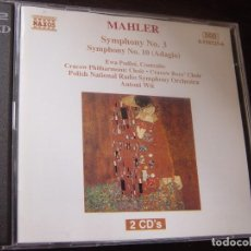 CDs de Música: MAHLER. SYMPHONY Nº 3. SYMPHONY Nº 10 (ADAGIO). 2 CD NAXOS. HNH INTERNATIONAL 1995. EDICION ALEMANA. Lote 95261367