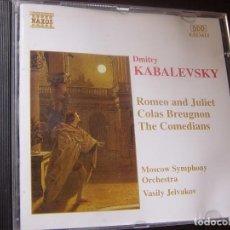 CDs de Música: DMITRY KABALEVSKY. ROMEO AND JULIET. COLAS BREUGNON. THE COMEDIANS. CD NAXOS HNH INTERNATIONAL 1996.. Lote 95261683