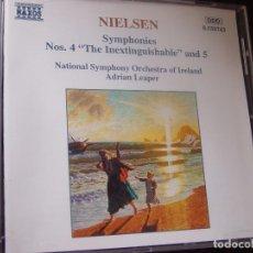 CDs de Música: NIELSEN. SYMPHONIES NºS 4 THE INEXTINGUISHABLE AND 5. CD NAXOS HNH INTERNATIONAL 1994. Lote 95261987