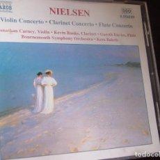 CDs de Música: NIELSEN. VIOLIN CONCERTO. CLARINET CONCERTO. FLUTE CONCERTO. CD NAXOS HNH INTERNATIONAL 2000. Lote 95262307