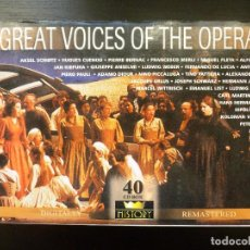 CDs de Música: GREAT VOICES OF THE OPERA III. COFRE 40CDS. REMASTERED DIGITALLY. Lote 95276947