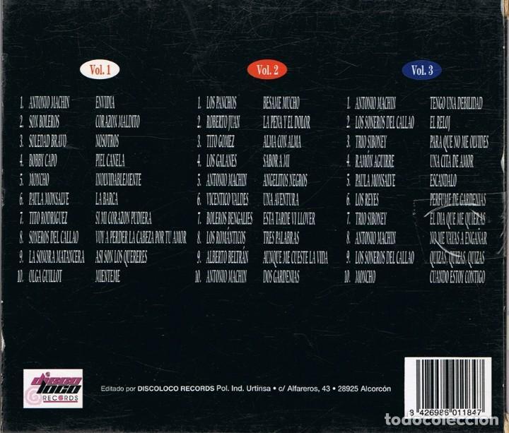 CDs de Música: CD LOS MEJORES BOLEROS VOL. 1,2 Y 3 - Foto 4 - 95341639