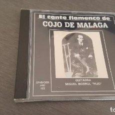 CDs de Música: EL CANTE FLAMENCO DE COJO DE MÁLAGA. CD A LA GUITARRA MIGUEL BORRUL 10 TEMAS. Lote 98180676