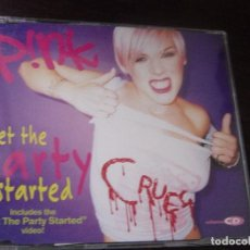 CDs de Música: PINK. GET THE PARTY STARTED. INCLUYE VIDEO. CD PROMOCIONAL. Lote 95419451