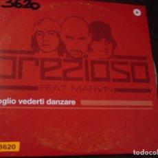 CDs de Música: PREZIOSO. FEAT. MARVIN. VOGLIO VEDERTI DANZARE. CD PROMOCIONAL. VALE MUSIC 2003. Lote 95456195
