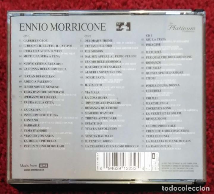 CDs de Música: ENNIO MORRICONE (THE PLATINUM COLLECTIÓN) 3 CD's 2007 - Foto 2 - 95456275