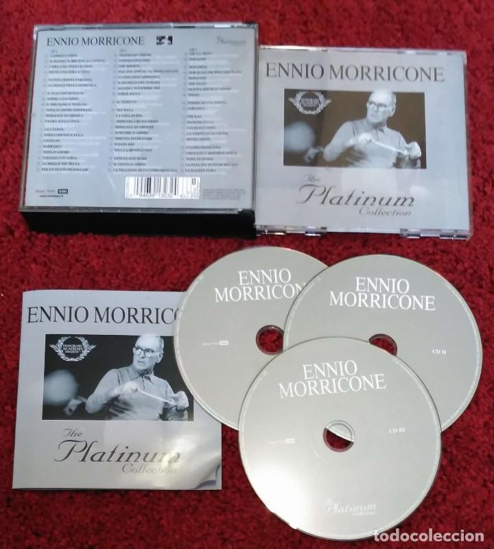CDs de Música: ENNIO MORRICONE (THE PLATINUM COLLECTIÓN) 3 CD's 2007 - Foto 3 - 95456275