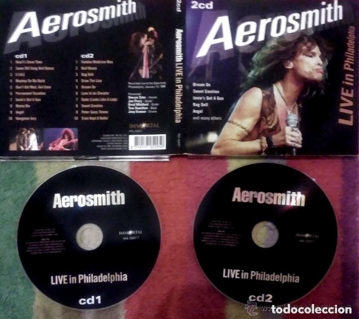 CDs de Música: Aerosmith (Live In Philadelphia) 2 Cd 2008 * Recorded live at the Spectrum, Philadelphia, January 19 - Foto 3 - 95457303