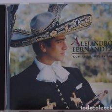 CDs de Música: ALEJANDRO FERNANDEZ - QUE SEAS MUY FELIZ (CD) 1996 - 12 TEMAS. Lote 95634731