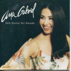 CDs de Música: ANA GABRIEL / SOLO QUIERO SER AMADA (CD SINGLE CARTON PROMO 1999). Lote 95686643