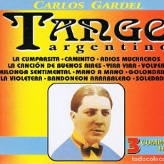 CDs de Música: CD TANGO ARGENTINO CARLOS GARDEL (3 CD´S). Lote 95696587