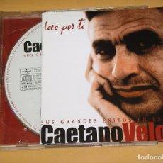 CDs de Música: CAETANO VELOSO, LOCO POR TÍ, SUS GRANDES EXITOS EN ESPAÑOL, CD + DVD, ERCOM. Lote 95705883