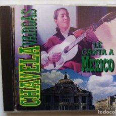 CDs de Música: CHAVELA VARGAS LE CANTA A MÉXICO. CD ORFEÓN ORF 1111 2. ESPAÑA 1995. . Lote 95954047
