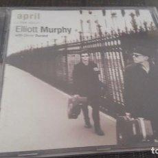CDs de Música: ELLIOTT MURPHY WITH OLIVIER DURAND CD APRIL A LIVE ALBUM 12 TEMAS. Lote 96024827
