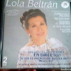 CDs de Música: LOLA BELTRÁN - SUS GRANDES CANCIONES EN DIRECTO. Lote 96025222