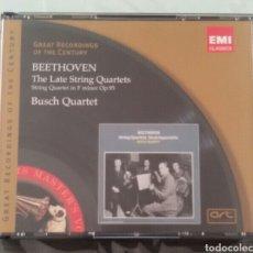 CDs de Música: BEETHOVEN - LATE STRING - BUSCH QUARTET - EMI. Lote 96027080