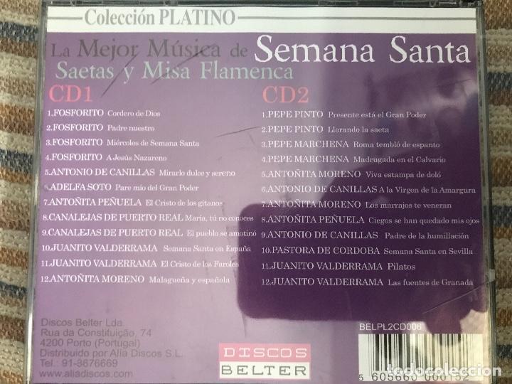CDs de Música: CD DOBLE LA MEJOR MÚSICA DE SEMANA SANTA - Foto 2 - 96132291