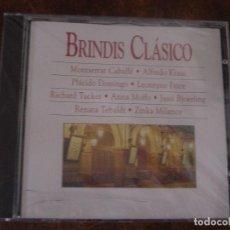 CDs de Música: BRINDIS CLASICO. MONTSERRAT CABALLE. ALFREDO KRAUS. PLACIDO DOMINGO ... CD PRECINTADO(#). Lote 96263727