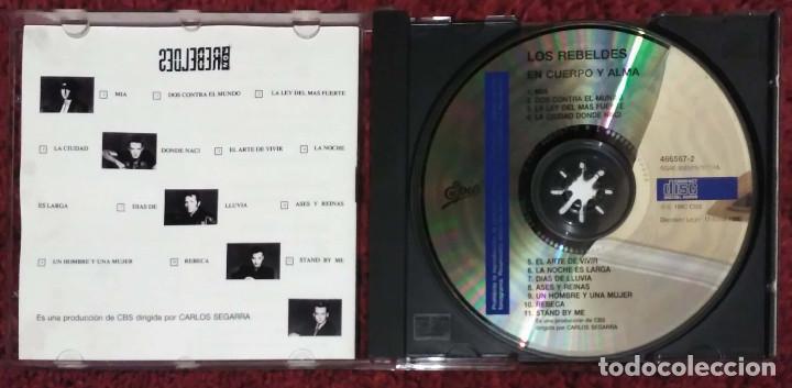 CDs de Música: LOS REBELDES (EN CUERPO Y ALMA) CD 1990 - Foto 3 - 96337879