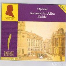 CDs de Música: MOZART - OPERAS: ASCANIO IN ALBA. ZAIDE (5CD BOX, BRILLANT CLASSICS 99734, VOL.21). Lote 96371523