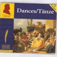 CDs de Musique: MOZART - DANCES (6CD BOX, BRILLANT CLASSICS 99735, VOL.19). Lote 96371771