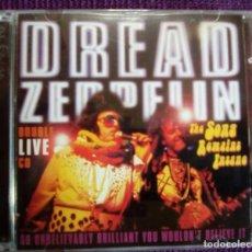 CDs de Música: DREAD ZEPPELIN 2 CD 1997 LIVE THE SONG REMAINS INSANE - REGGAE ROCK - TORTELVIS LED ZEPPELIN RARO. Lote 96444983