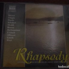CDs de Música: RHAPSODY. CLASSICAL FAVOURITES FOR RELAXING AND DREAMING. CD NAXOS HNH INTERNATIONAL 1998.. Lote 96450299