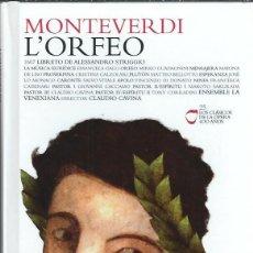 CDs de Música: VE15- DISCO-LIBRO DE 60 PAGS.Y 2 CDS. - MONTEVERDI -L'ORFEO - LOS CLASICOS DE LA OPERA (400 AÑOS ). Lote 96537631
