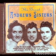 CDs de Música: THE GREAT ANDREWS SISTERS. - CD-JAZZ-309.. Lote 96542183