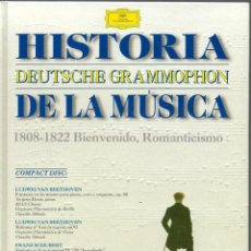 CDs de Música: VE15- DISCO-LIBRO DE 48 PAGS. Y 1 CDS. - HISTORIA DE LA MÚSICA 1808 - 1822 DEUTSCHE GRAMMOPHON. Lote 96544619