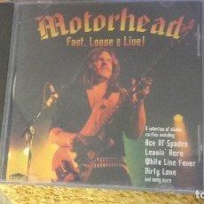 CDs de Música: MOTORHEAD , FAST , LOOSE & LIVE ? CD 1996 ESTADO IMPECABLE. Lote 96569827