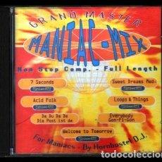 CD de Música: GRAND MASTER MANIAC NON STOP MIX. - HORNBOSTEL, D.J. - CD-VARIOS-1391,2. Lote 137124870
