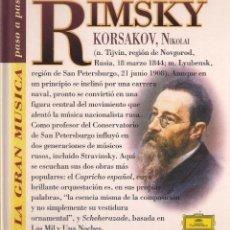 CDs de Música: RIMSKY KORSAKOV LA GRAN MÚSICA PASO A PASO CD DEUTSCHE GRAMMOPHON/CLUB INTERNACIONAL DEL LIBRO 1995. Lote 96806879