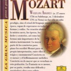 CDs de Música: MOZART - LA GRAN MÚSICA PASO A PASO - CD DEUTSCHE GRAMMOPHON/CLUB INTERNACIONAL DEL LIBRO 1995. Lote 96806951