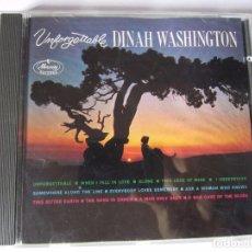 CDs de Música: CD DINAH WASHINGTON UNFORGETTABLE AÑO 1991. Lote 96847451