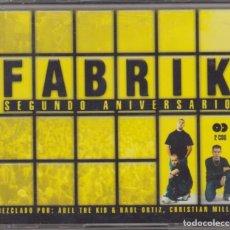 CDs de Música: FABRIK DOBLE CD SEGUNDO ANIVERSARIO 2005 ABEL THE KID RAUL ORTIZ CHRISTIAN MILLÁN. Lote 96870851